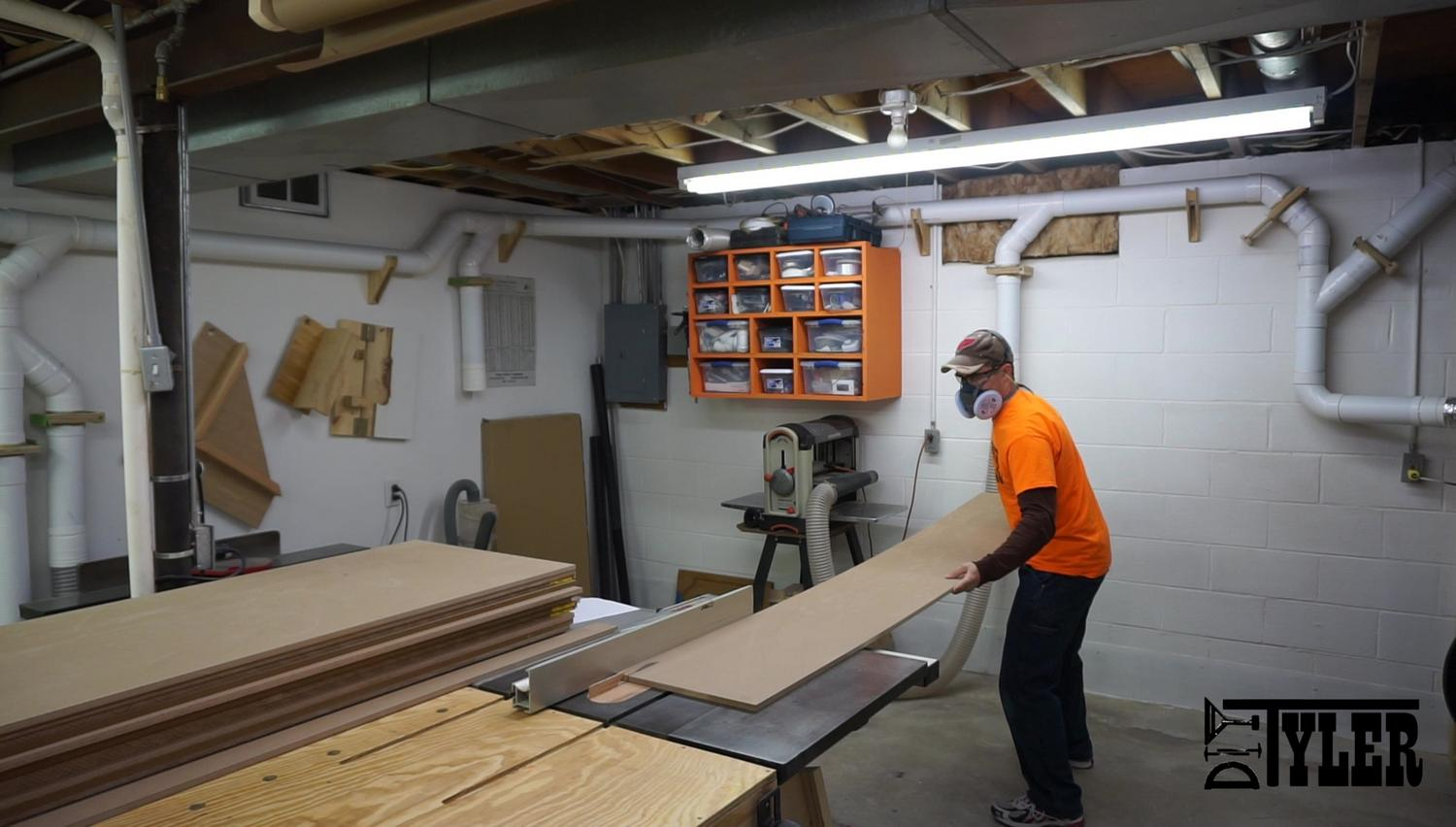 Lots of MDF cutting on the table saw