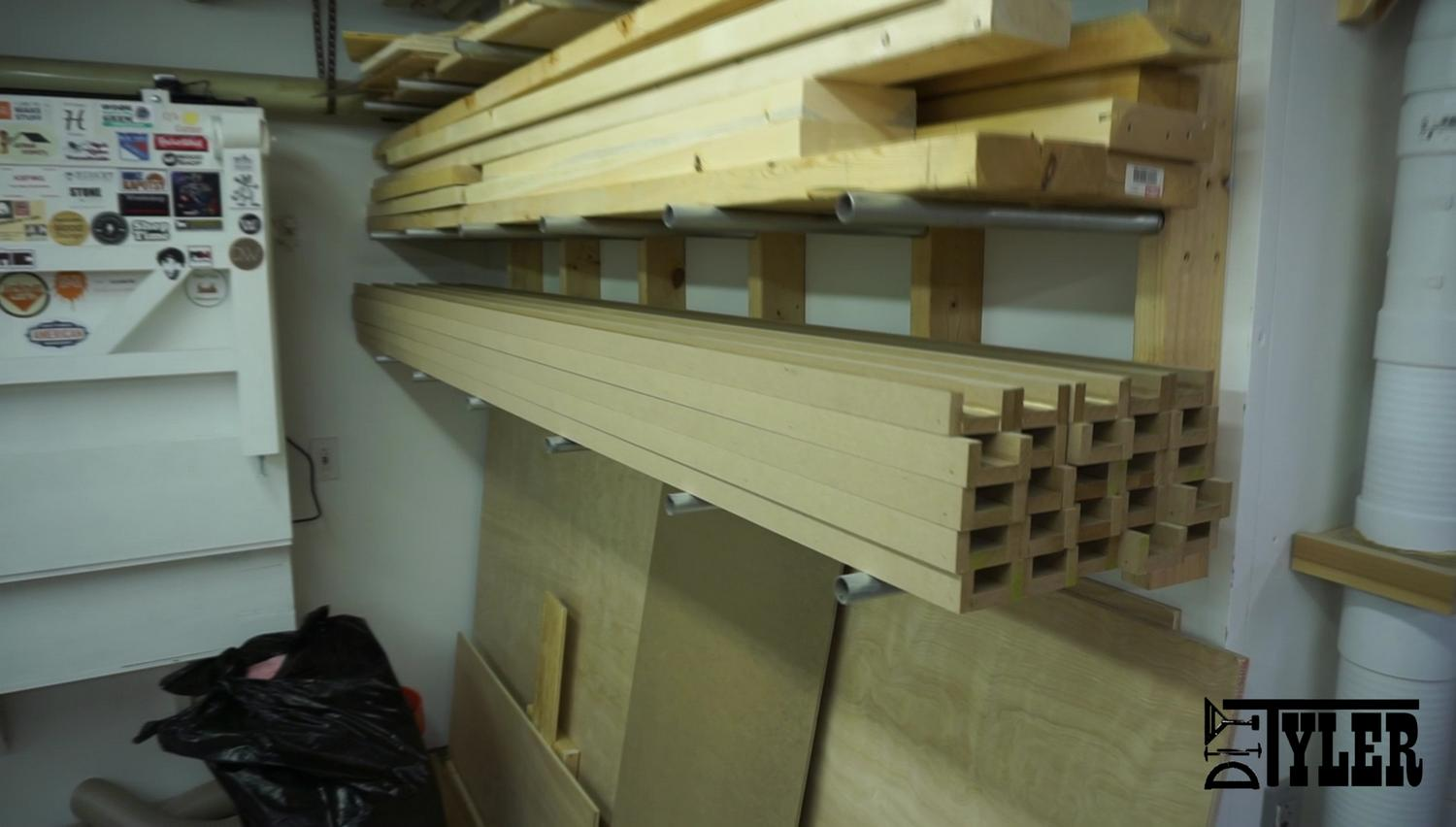 Stack of coffer ceiling beams