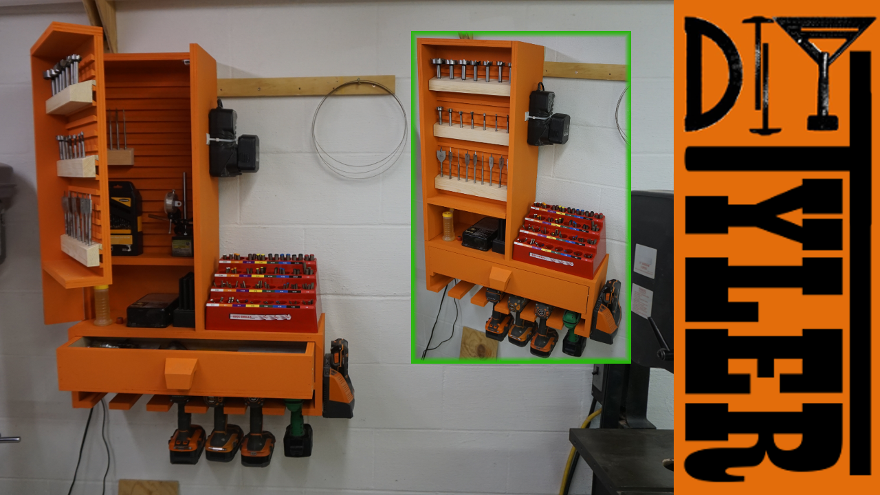 French Cleat Drill Bit / Drill / Charging Station - DIYTyler