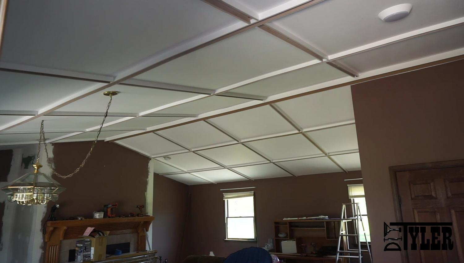 Coffered roof for Coffered ceiling detail