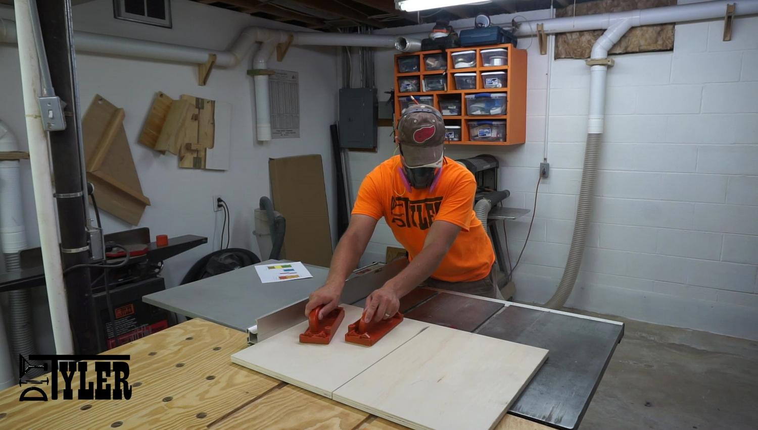 Cutting parts on table saw