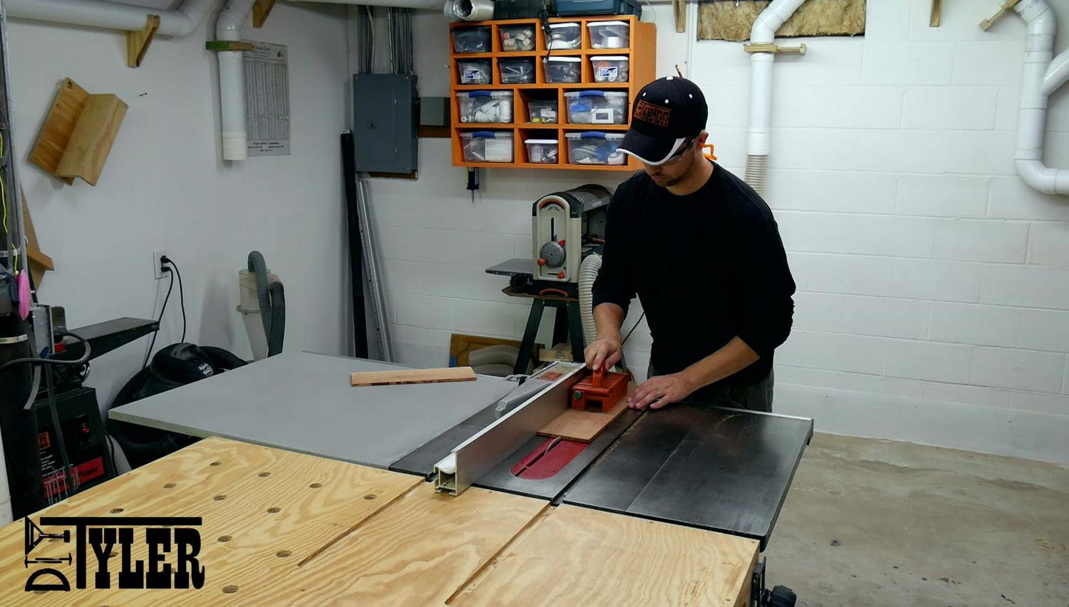 cutting cherry on the table saw